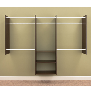 4' to 8' Deluxe Starter Closet - Truffle : RB1460-T